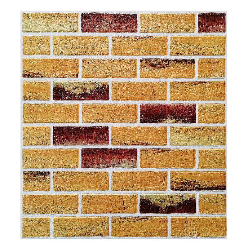 复古墙纸自粘店面墙面装饰3d立体仿古砖墙贴卧室壁纸泡沫砖纹贴纸