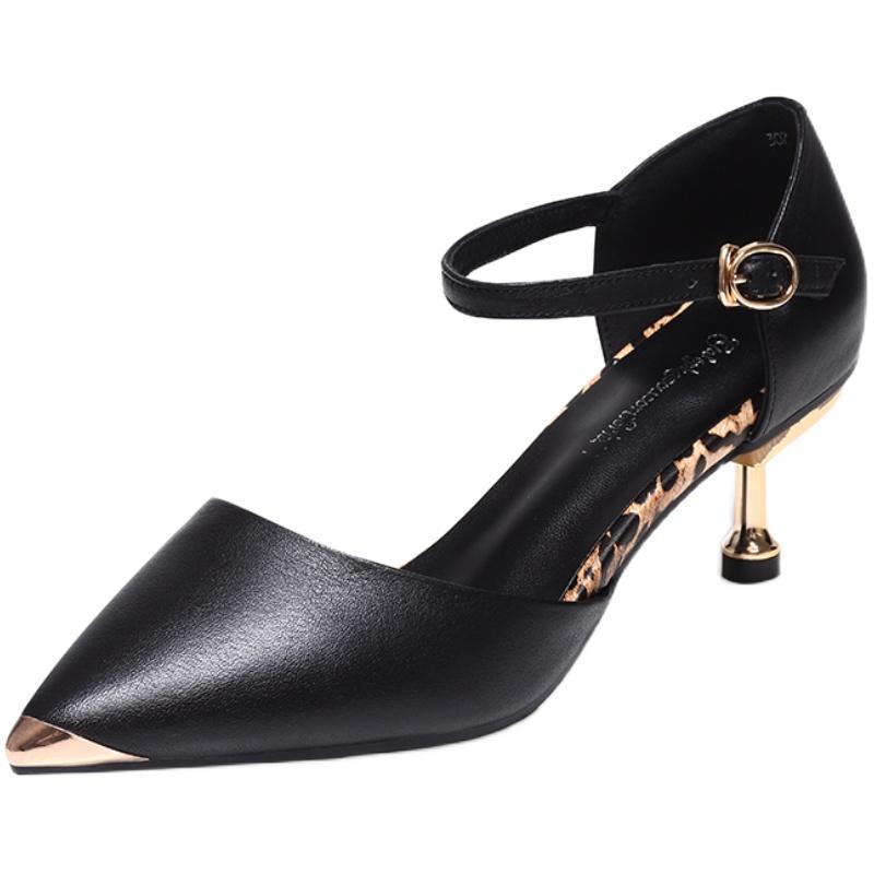 旗袍包头凉鞋新款夏季小跟高跟鞋质量好不好