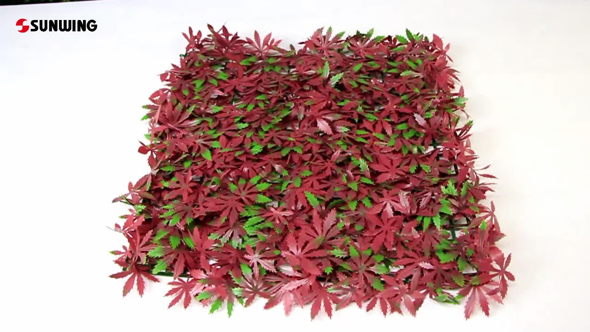 กลางแจ้งสีแดงใบสวนพลาสติกความเป็นส่วนตัวรั้วสำหรับการตกแต่งระเบียง
