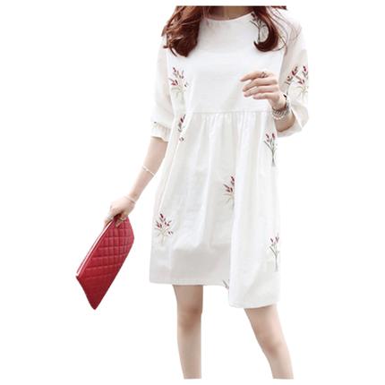 孕妇装春装夏装上衣短袖纯棉连衣裙