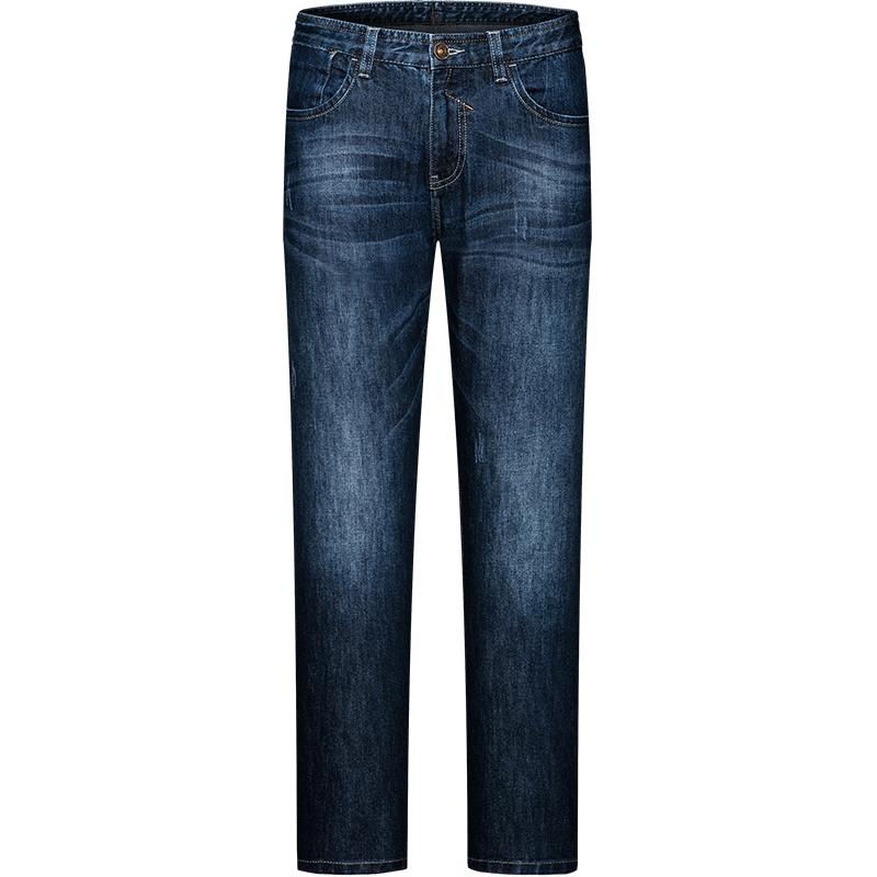七匹狼商务时尚休闲潮流直筒牛仔裤长裤
