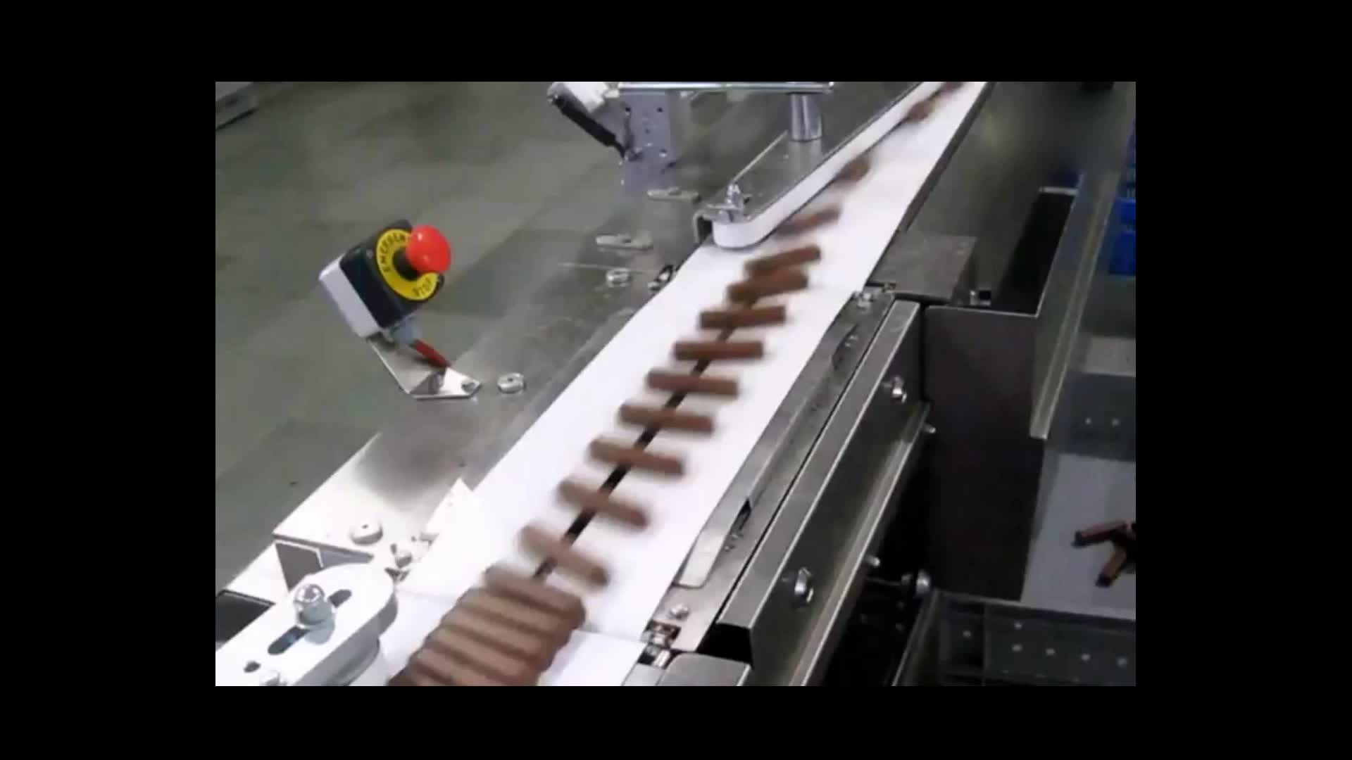 High speed chocolate nutrition bar automatic packing line