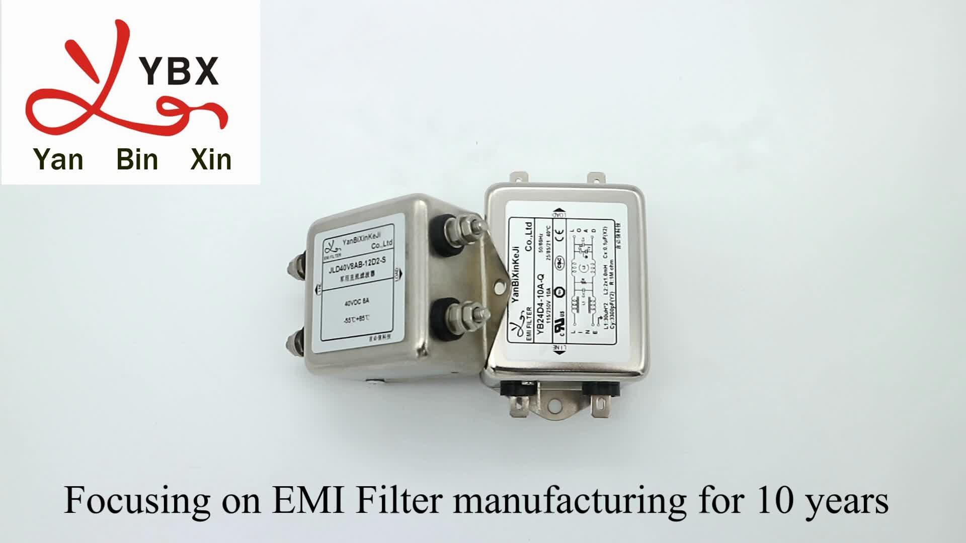 Yanbixin 고성능 단상 EMC EMI 필터