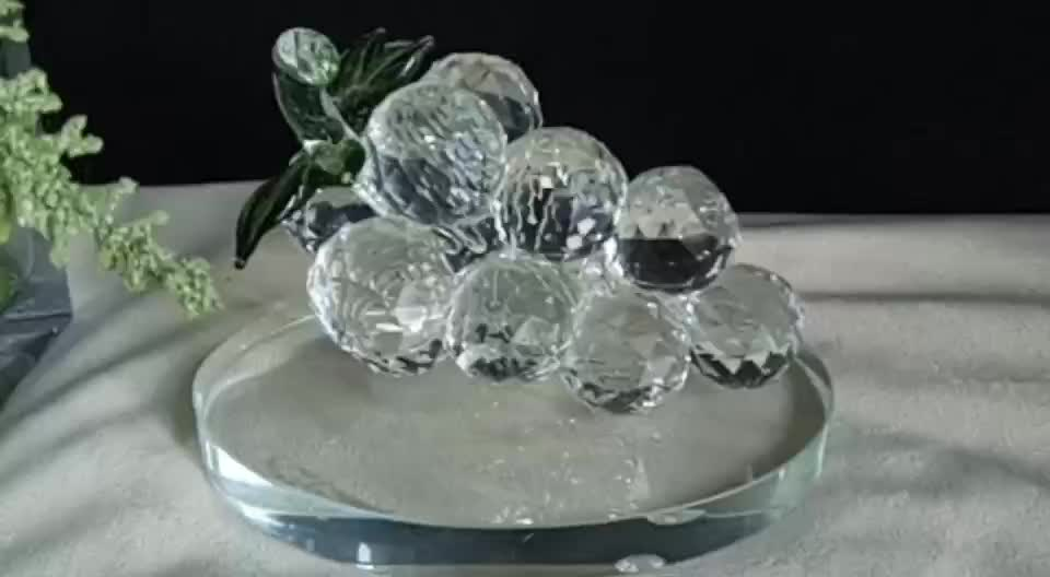 Creative crystal glass grapes ornaments home wedding for Buy grape vines for crafts