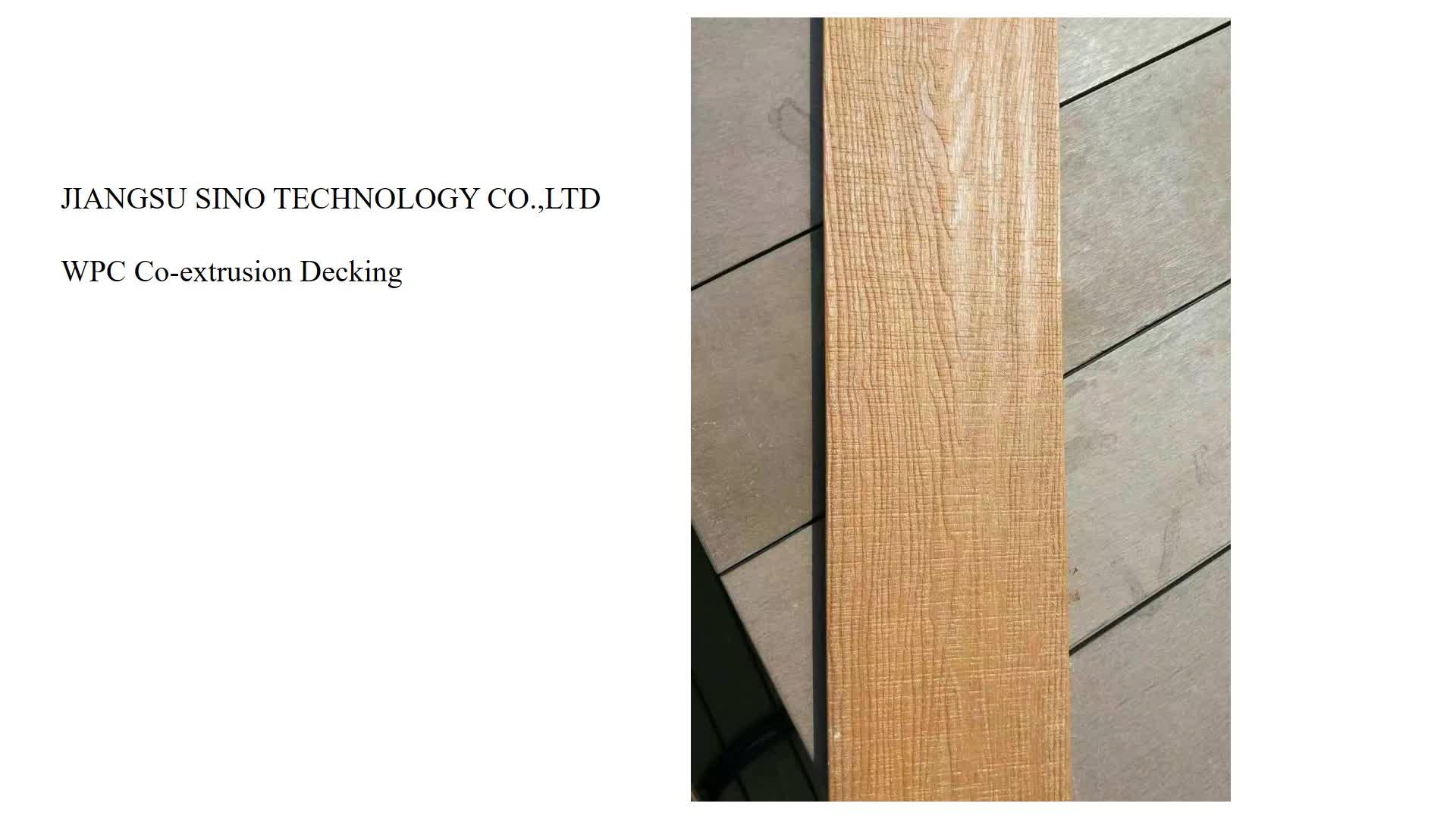 WPC co-extrusie decking vloeren