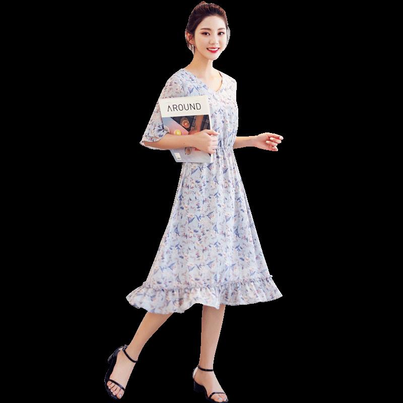 韩都衣舍2019春装新款韩版女连衣裙