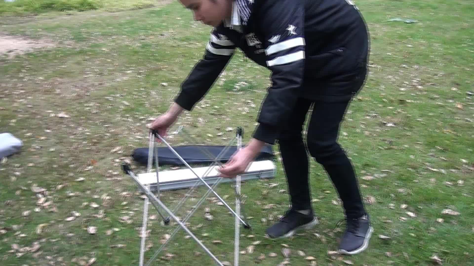 다기능 경량 portable outdoor 된 벤치와 캠핑 알루미늄 접는 표