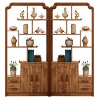 新中式玄关柜客厅实木框进门酒柜评价好不好?