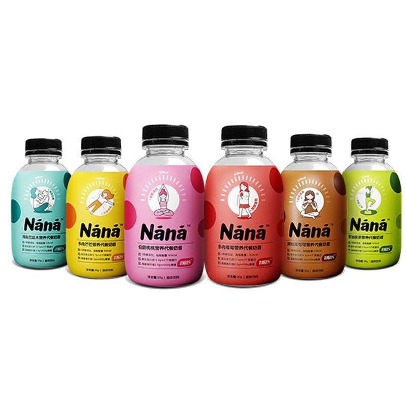 减肥必备!nana代餐奶昔多口味6瓶