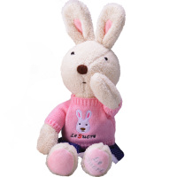 可爱兔公仔小兔子宝宝安抚毛绒玩具使用评测分享