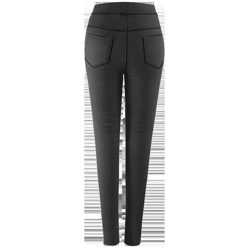 打底裤女裤外穿小脚2018新款秋冬季高腰黑色魔术保暖棉裤加厚加绒