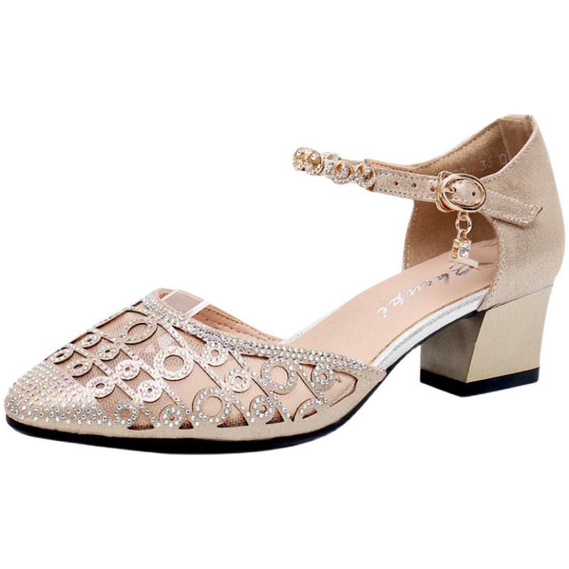 夏季凉鞋真皮2021新款中高跟女鞋质量好不好