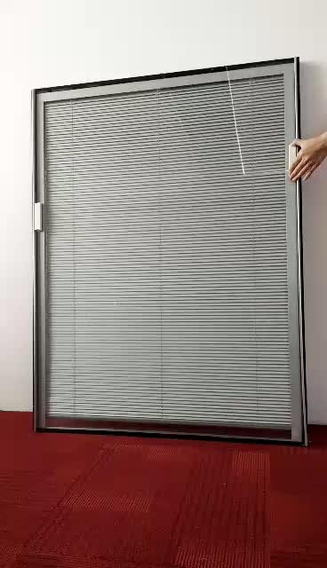 Guangzhou Factory Double Glazing Glass Blind Built Inside