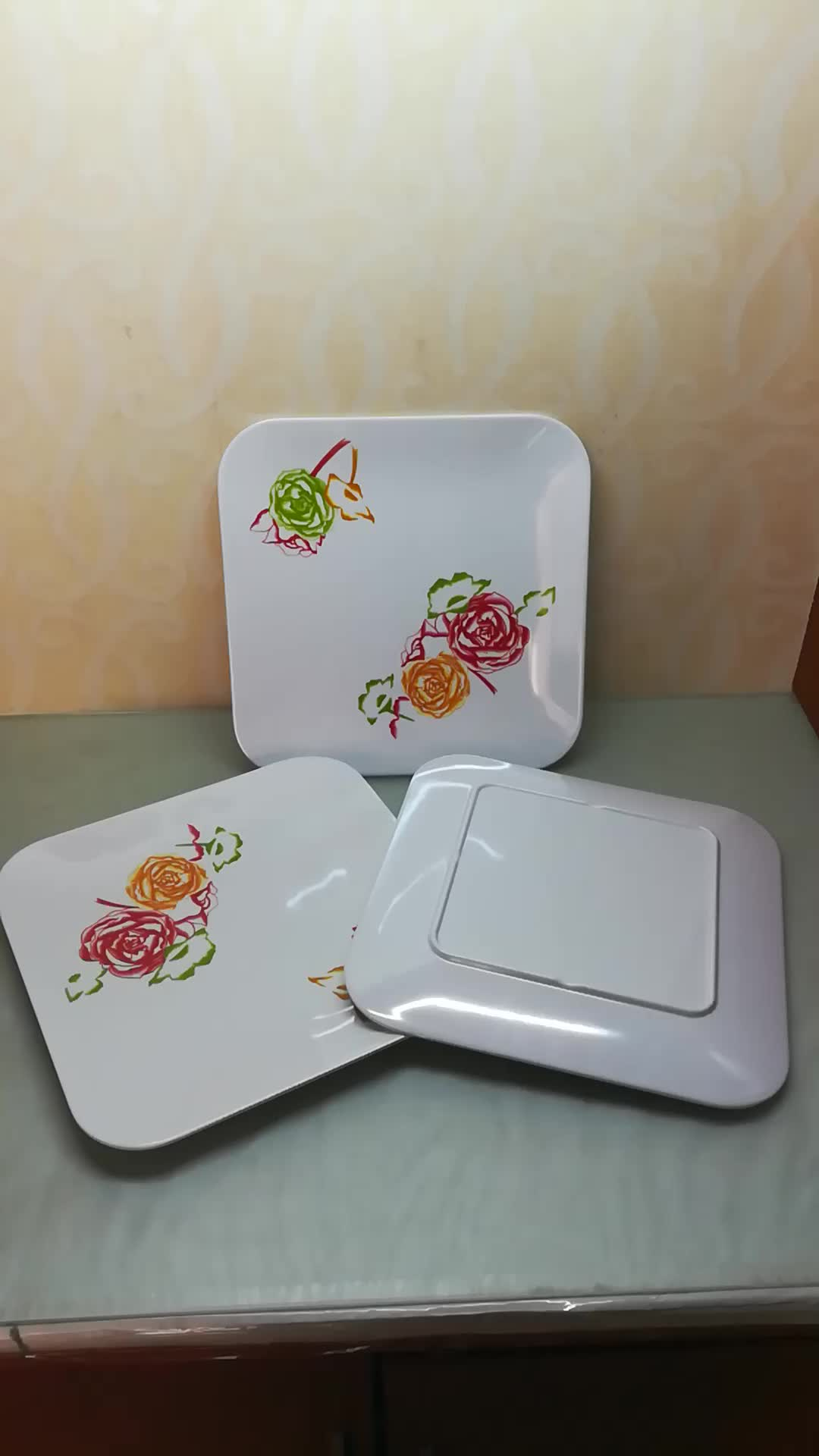 Chinese manufacturer melamine ware different designs square dinner plates & Chinese Manufacturer Melamine Ware Different Designs Square Dinner ...