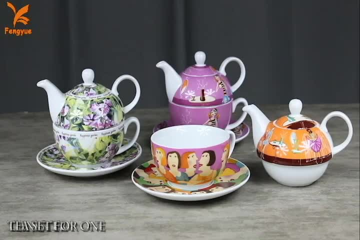 One person grace coffee table set porcelain / tea for one set wholesale for gift