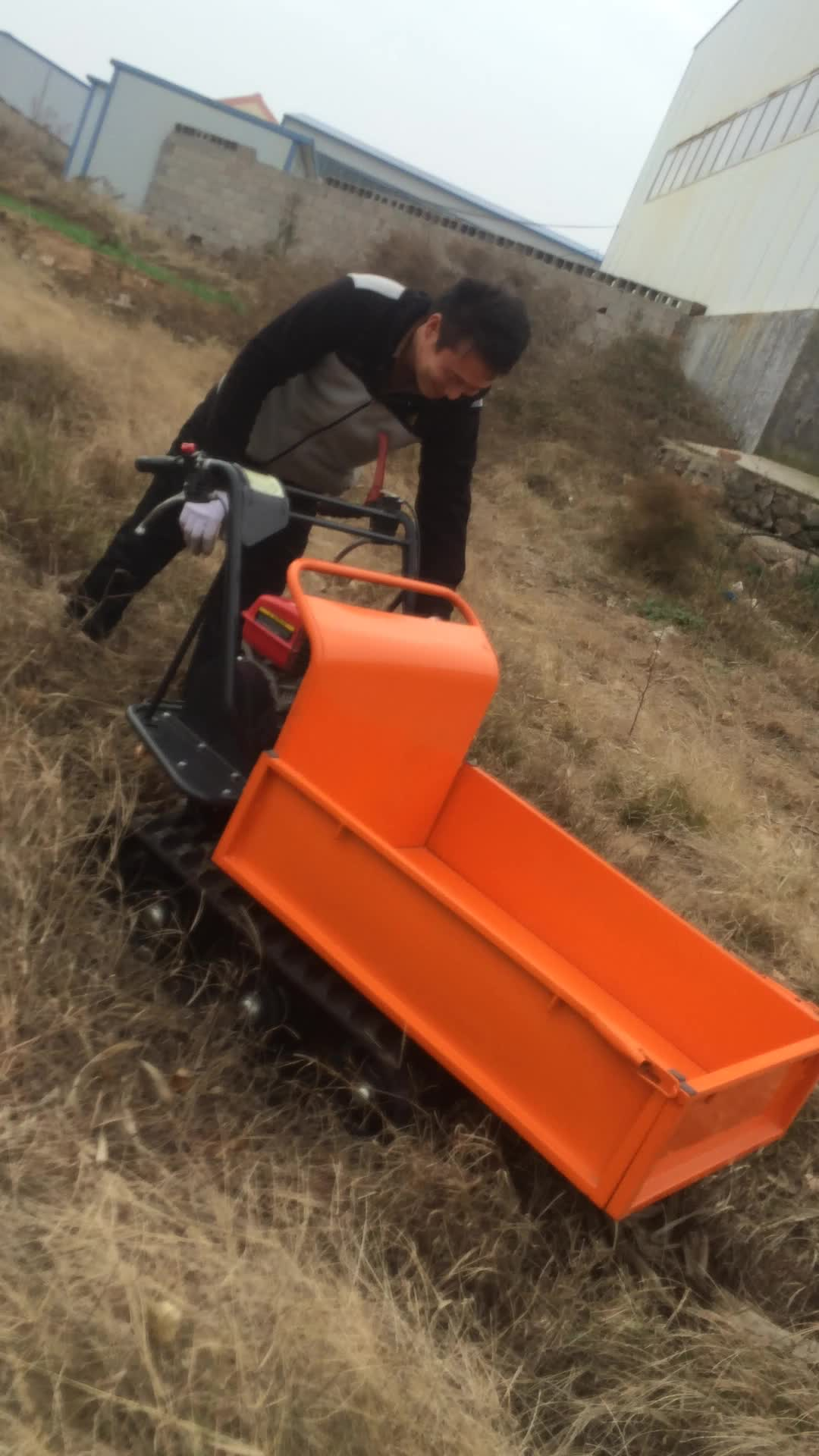 CE quality all terrain mini dumper for forestry with colors