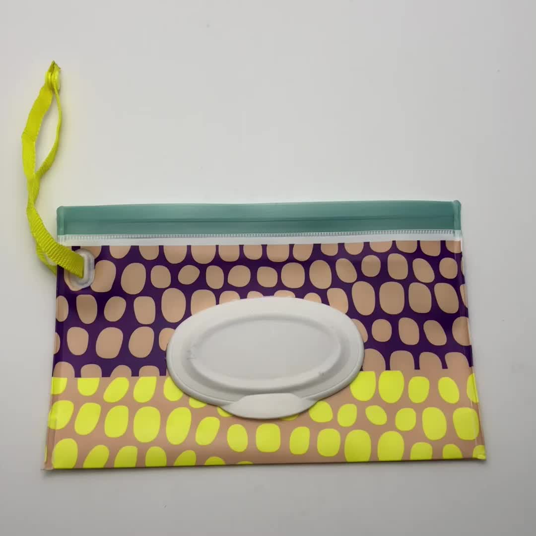 Customized Eco-friendly EVA refillable wet wipes pouch