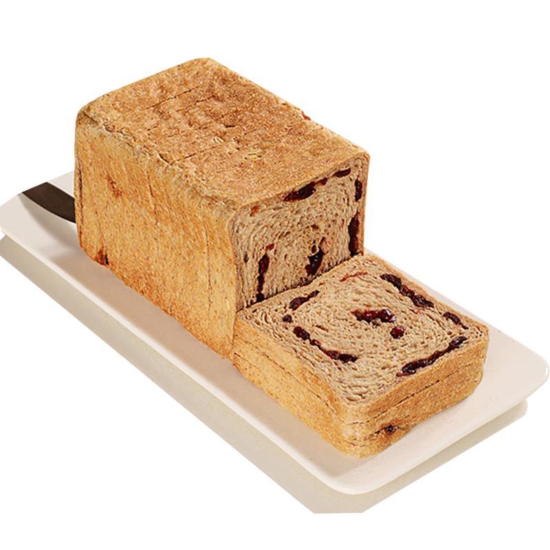 全麦蔓越莓吐司蛋油低脂热量卡面包