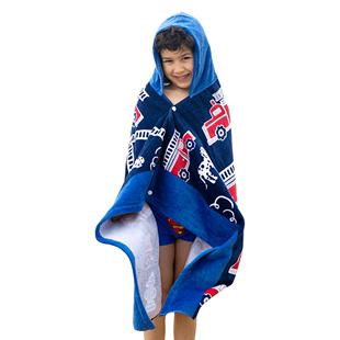 斗篷带帽男童纯棉浴袍吸水速干浴巾