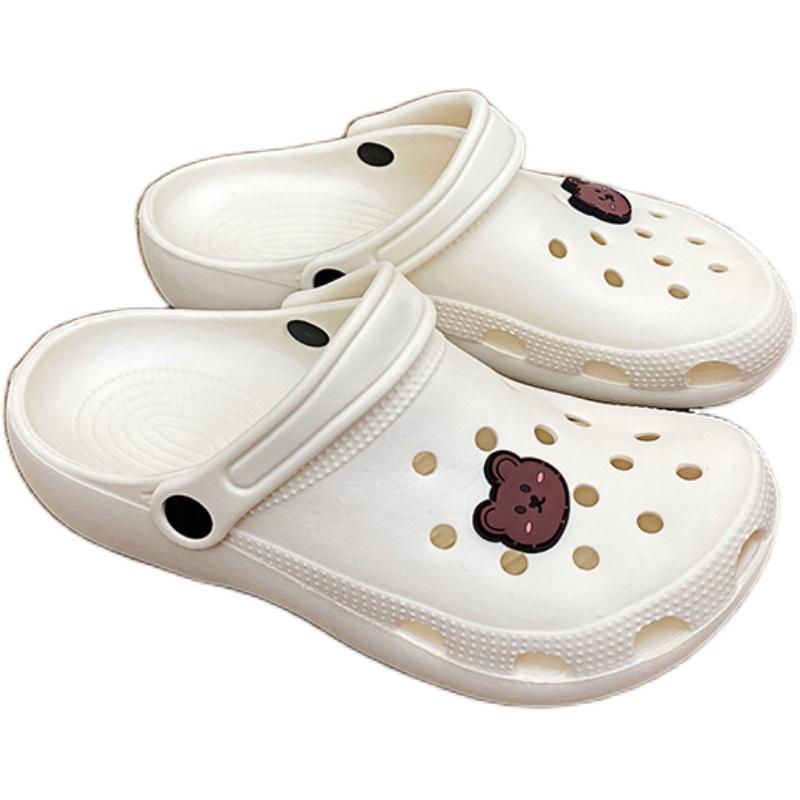 2020新款女ins潮厚底包头夏洞洞鞋用后反馈