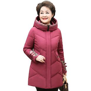 妈妈洋气保暖2019新款加厚棉羽绒服