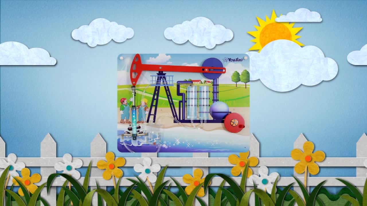 High Standard Cheap Busy Board Kids Learning Science Series Oil Exploitation Toy