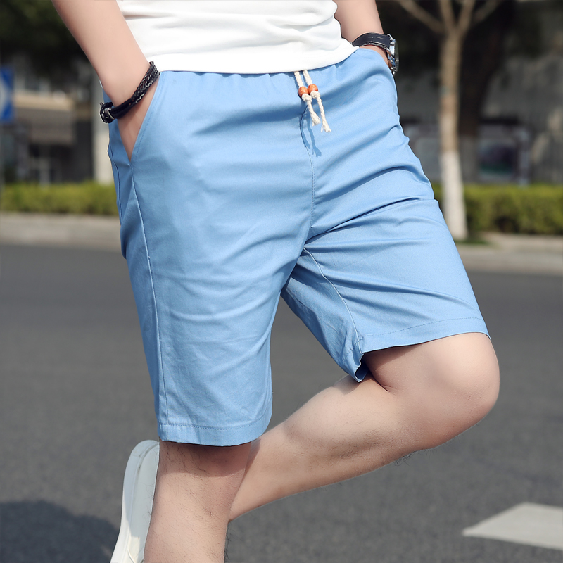 17cba7162 Men's Shorts Men's casual pants hot summer pants Korean version loose  straight 5 minute five pants summer beach trousers