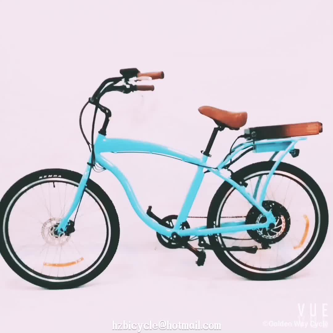 2017 26 28 inch 48V 500W beach cruiser electric bike /electric bicycle from China manufacturer