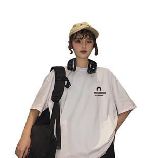 ins同款超火cec短袖t恤女純棉韓版夏季寬鬆學生bf原宿風網紅上衣
