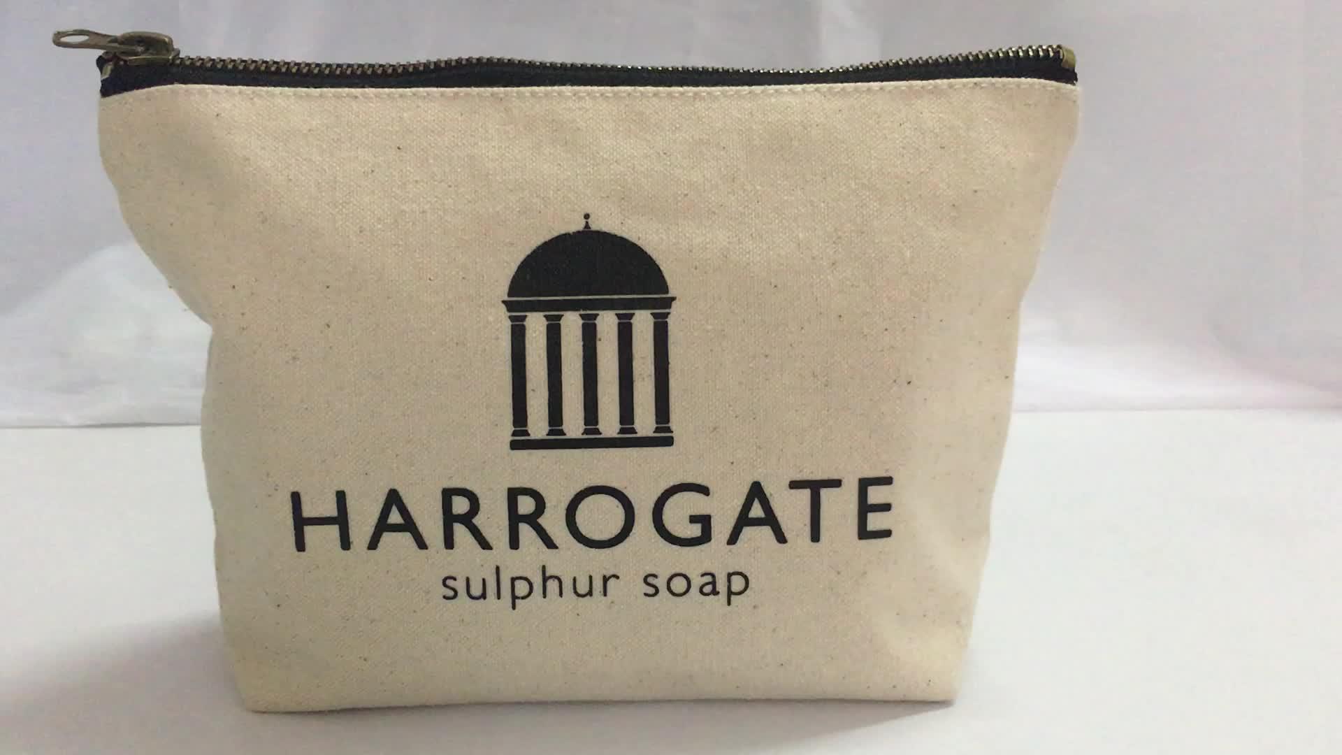 Taobao Organic Cotton Makeup Bag with Custom Color, Cotton Cosmetic Bag/Travel Wallet, Makeup Pouch/Makeup Zipper Bag