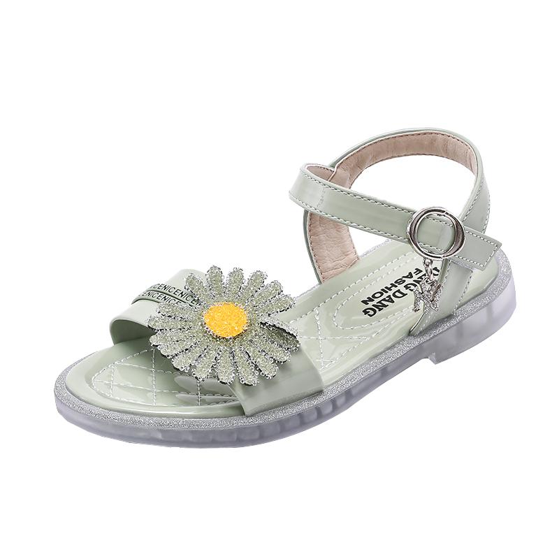 女童凉鞋2020夏季新款童鞋时尚公主儿童小雏菊宝宝太阳花软底鞋子