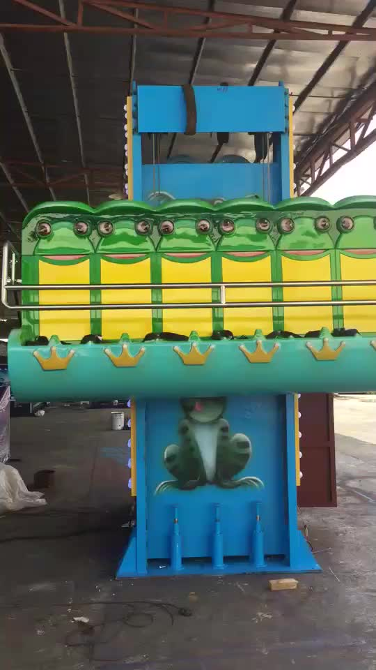 Carton fair big discount price frog hopper ride mini sky drop tower amusement frog jumping ride