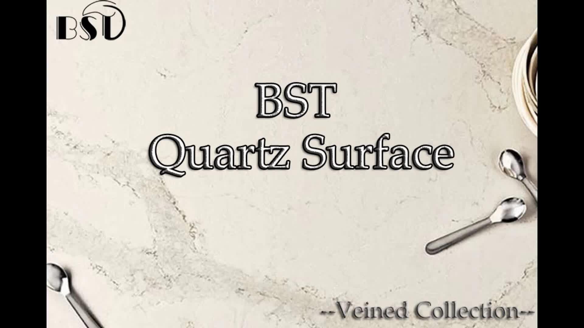 Wear Resistant Engineering Quartz Stone Slab with Green Guard