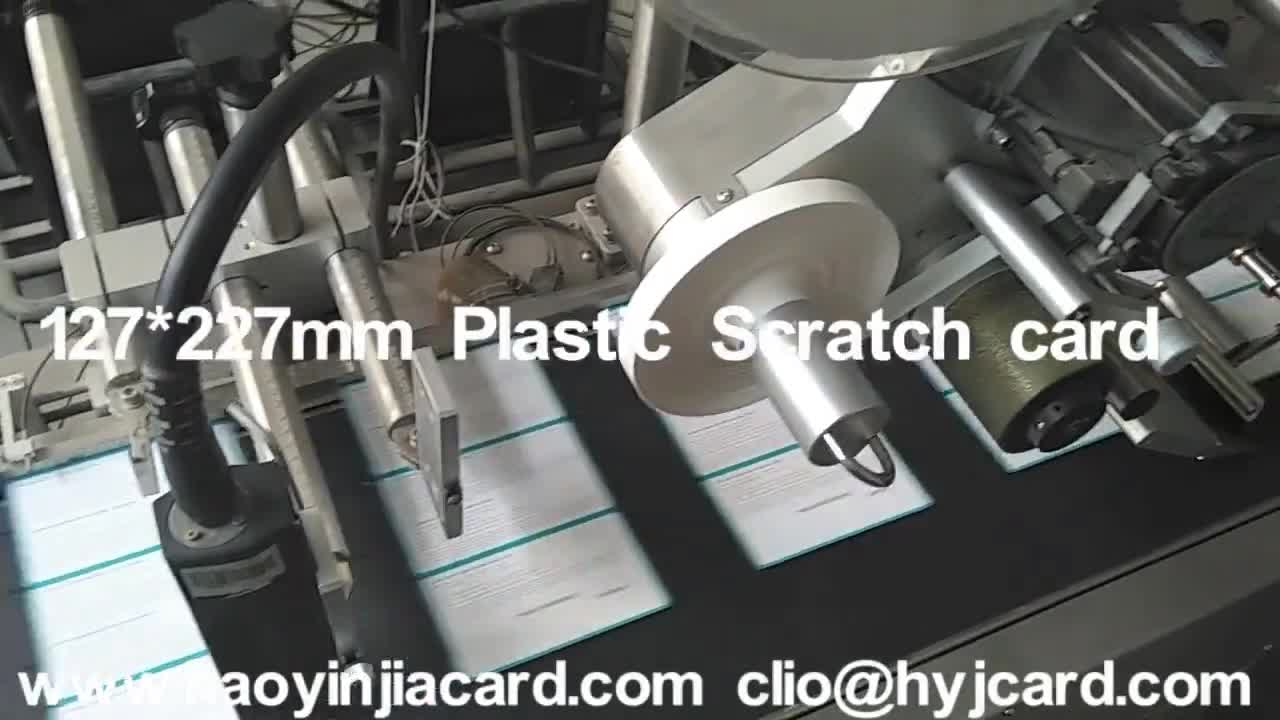 Cheap paper lottery scratch card scratch off lottery ticket printing
