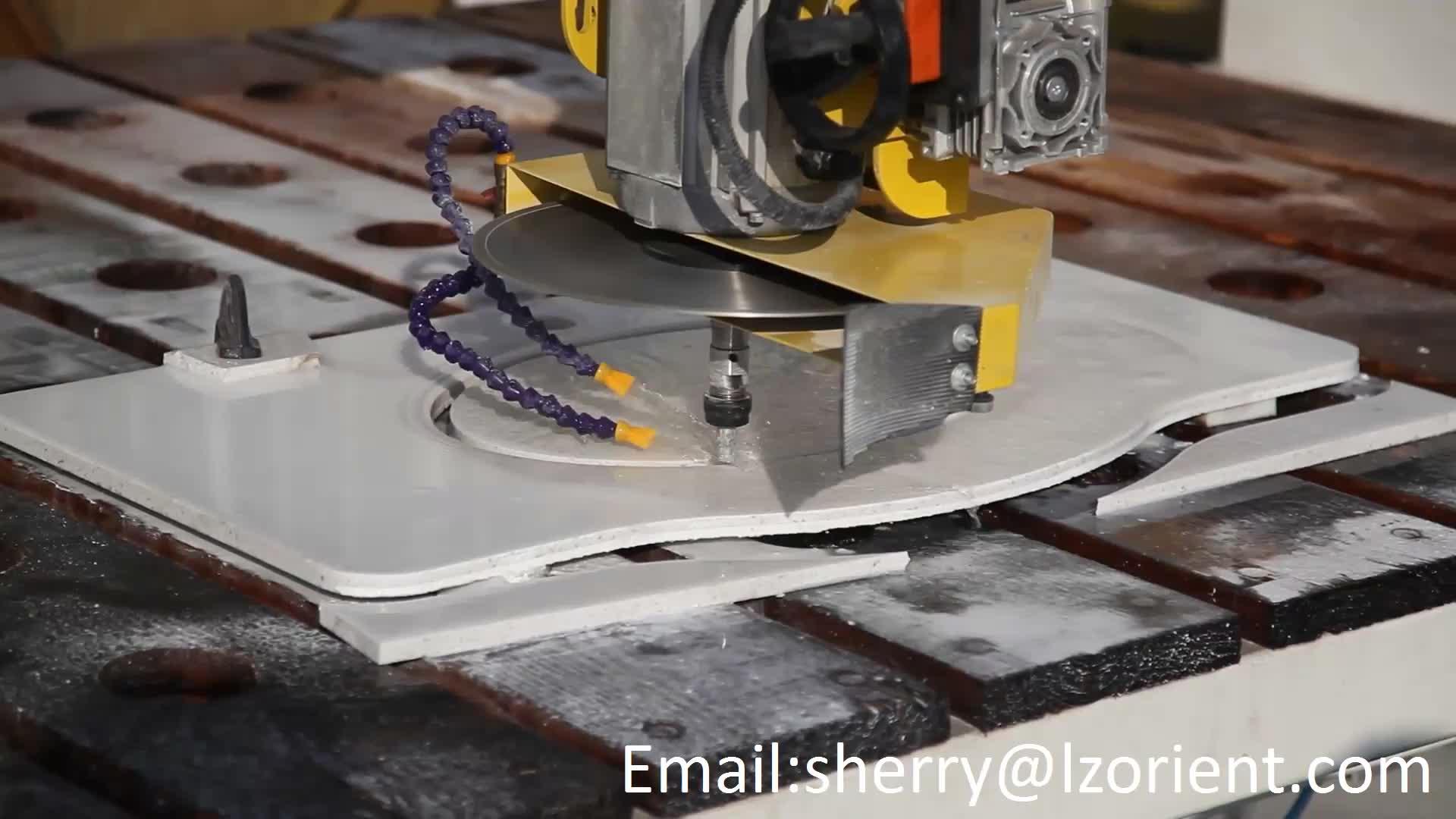 5 Assi CNC macchina di taglio del Granito Marmo Lavello Foro Macchina di Taglio