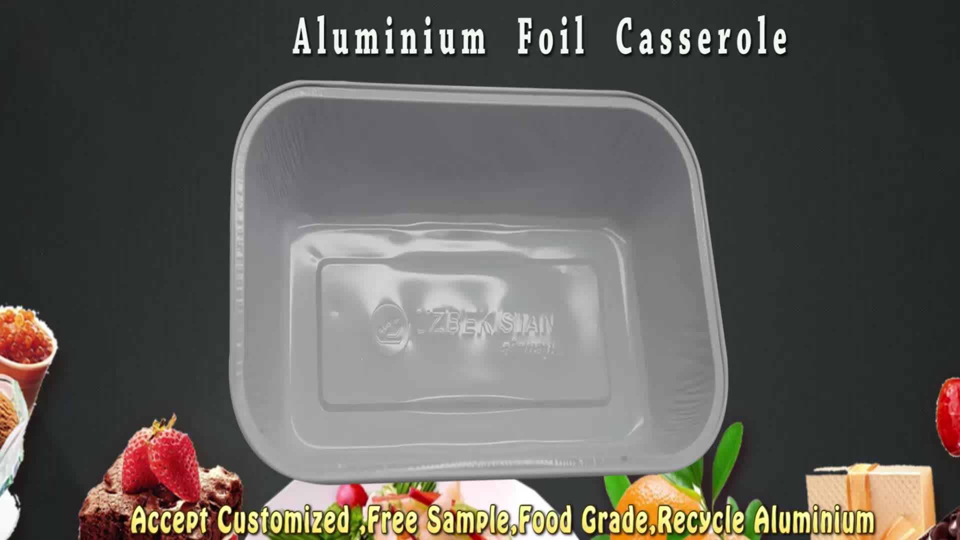 caçarola de alimentos folha de alumínio a bordo