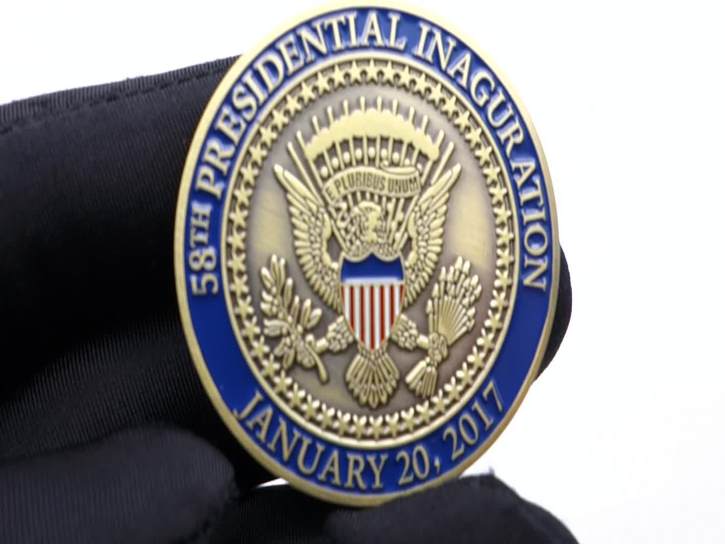Gold Plating President Trump Coin