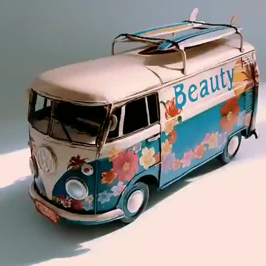 Where Can I Buy A Volkswagen Bus: Antique Handmade Vw Bus,Combi Van Model 1:18 Scale For