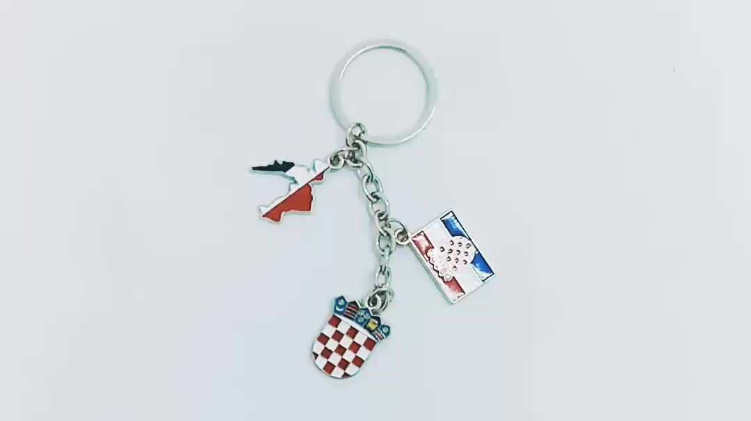 Sublimation I Love London Souvenirs Personalized Custom Metal Keychain