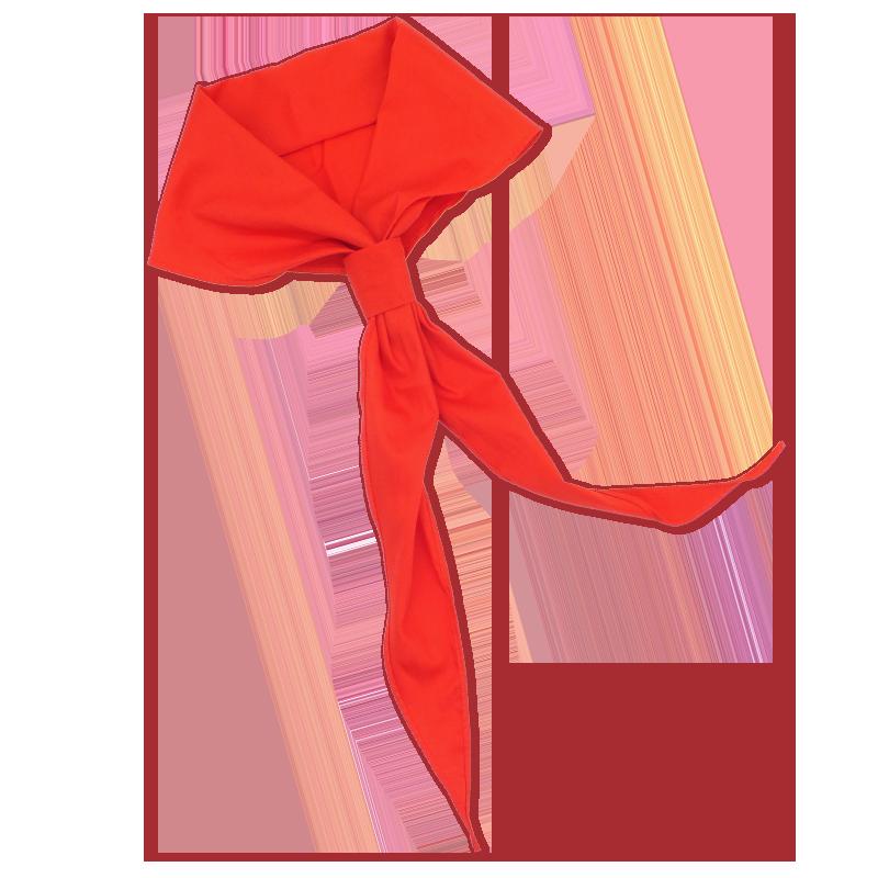红领巾小学生通用标准纯棉不褪色成人儿童免打结拉链式少先队入队一三年级1米1.2米1.5米正品全棉红领巾批发