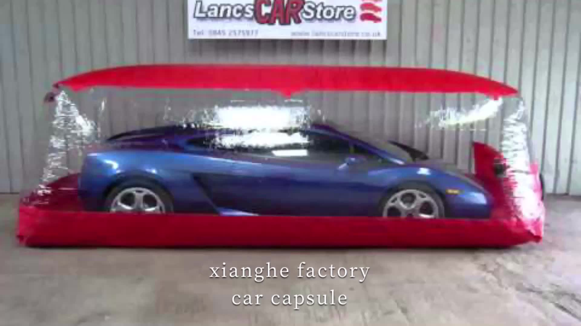 2020 new coming waterproof and latest design transparent pvc inflatable car cover