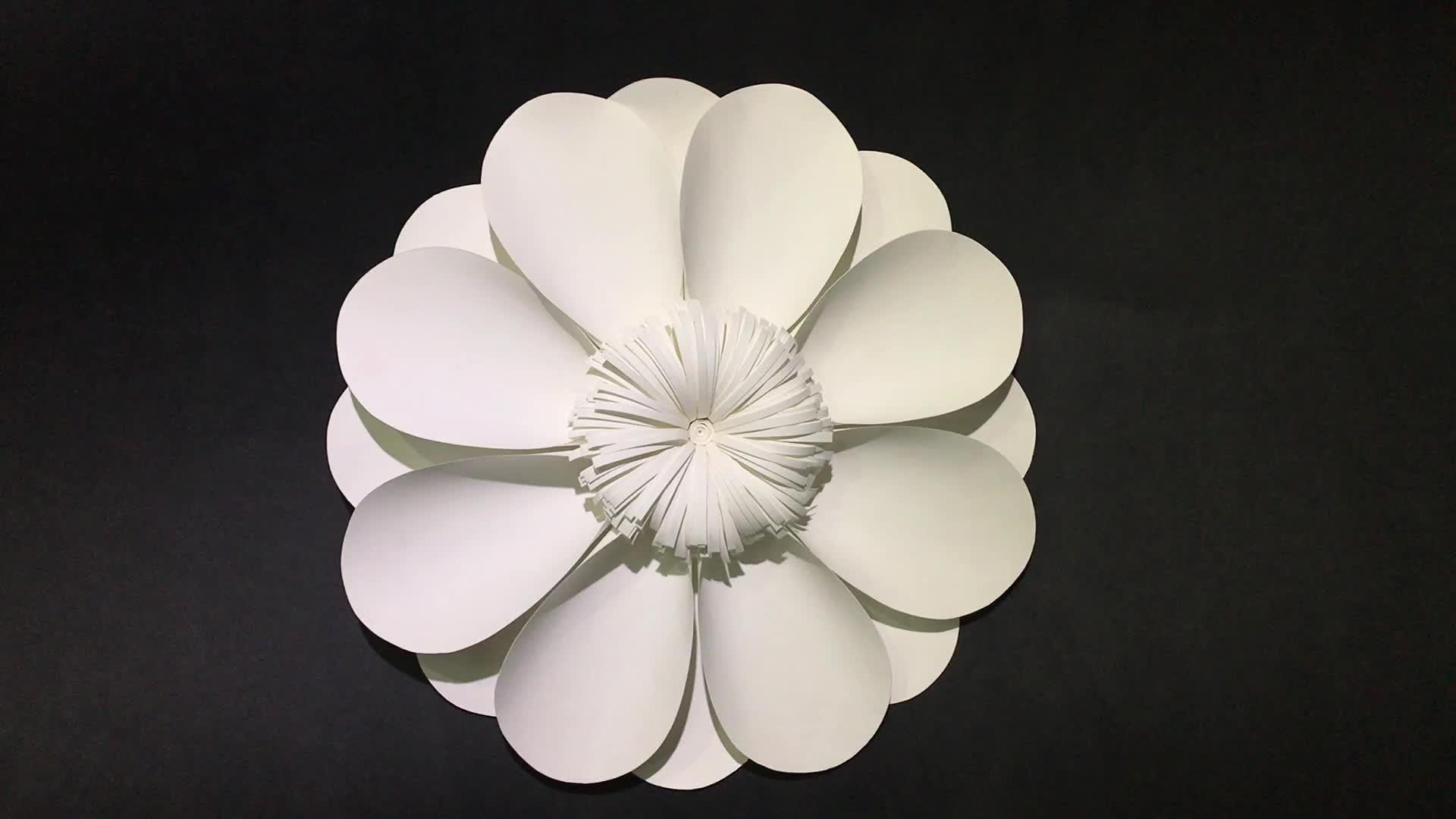 Beautiful Deep Colour Big Artificial Backdrop Wall Flower Foam Paper