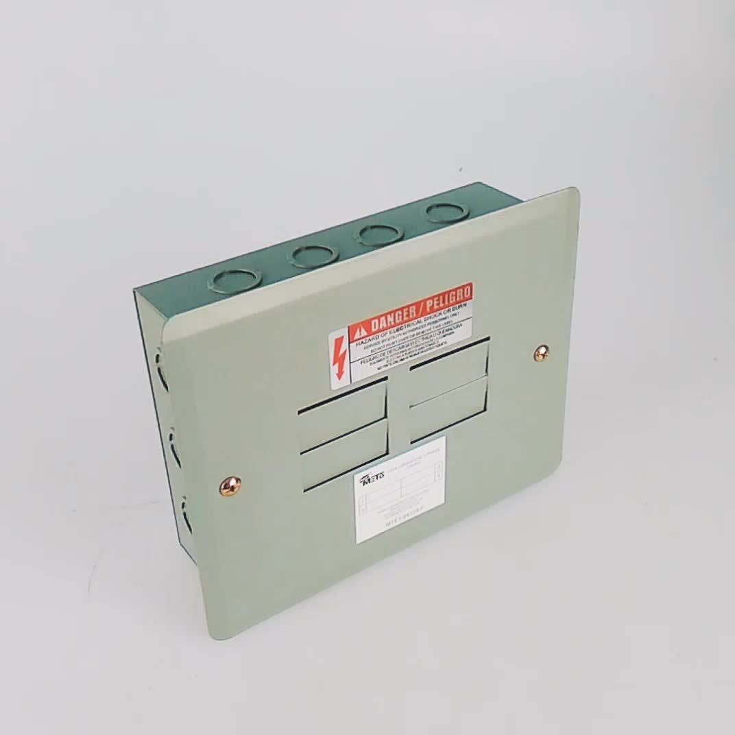 Wenzhou 4way flush mount type distribution panel board for Electrical panel sizes