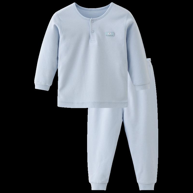 丽婴房清仓男女宝宝新生婴幼儿纯棉内衣套装儿童长袖睡衣套装春秋