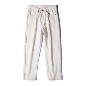 米白色直筒女秋装2021年新款牛仔裤