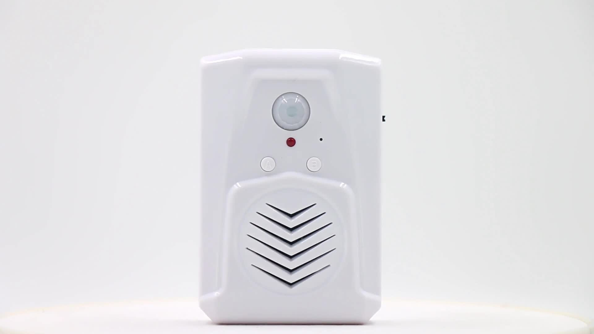 Small Wireless PIR Motion Sensor Voice Recordable Sound Doorbell