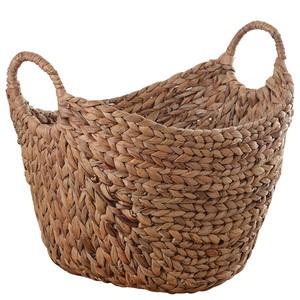 北欧脏衣服草编家用编织篮子收纳筐