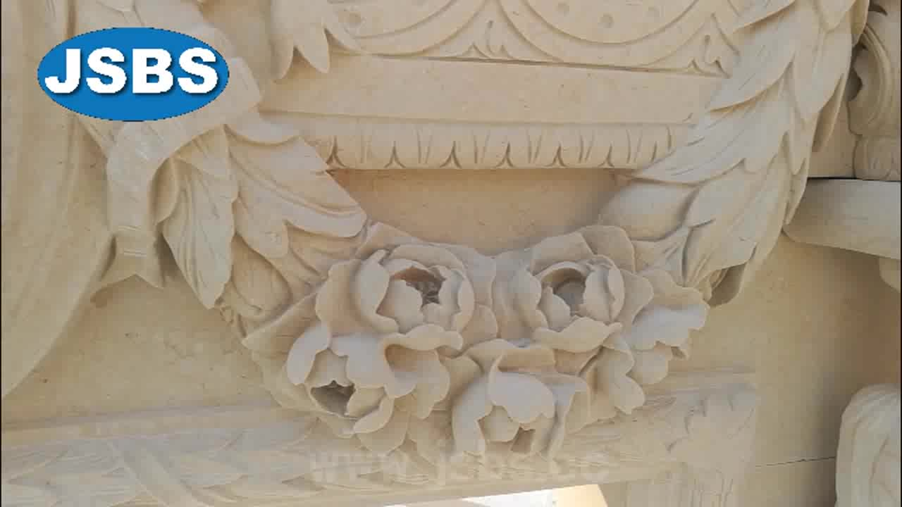 Stone relief with flower carving buy