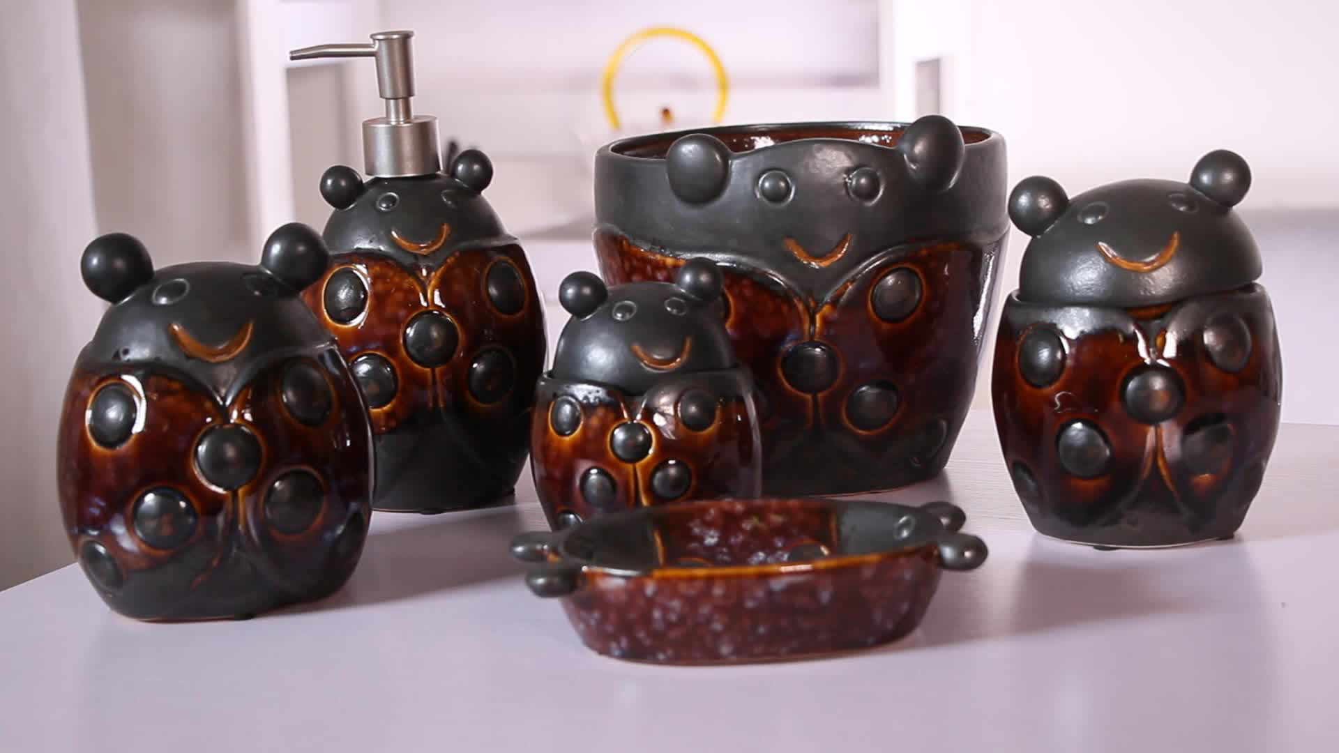 sch nen retro stil 6 st cke keramik bad zubeh r set buy bad zubeh r set keramik bad. Black Bedroom Furniture Sets. Home Design Ideas