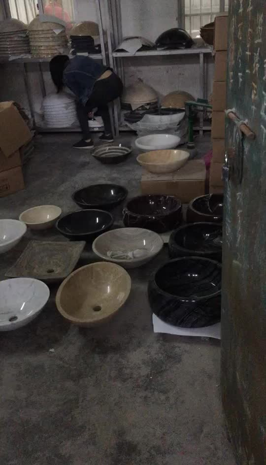 Wholesale Home Bathroom Decor Stone Crafts New Product Marble Under Counter Wash Basin